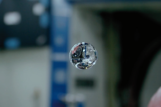Flotng water in International Space Station