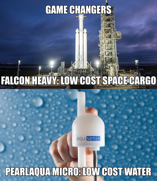 Falcon Heavy: Low Cost Space Cargo - PearlAqua Low cost clean water through UV-C LEDs