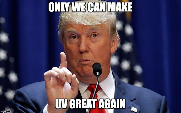 Trump meme - make UV great again