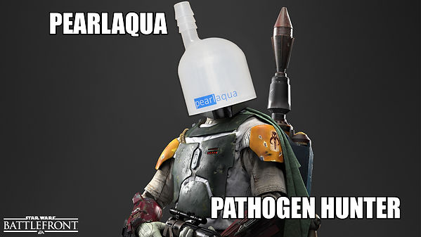 Boba Fett meme - pathogen hunter - uv system