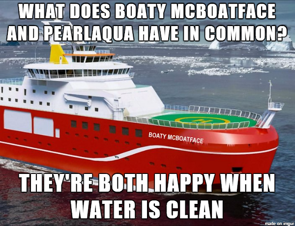 Boaty McBoatface meme - Boaty and PearlAqua both water clean water