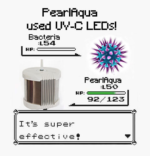 Pokemon Meme Bacteria vs. PearlAqua - PearlAqua used UV-C LEDs! It's super effective!