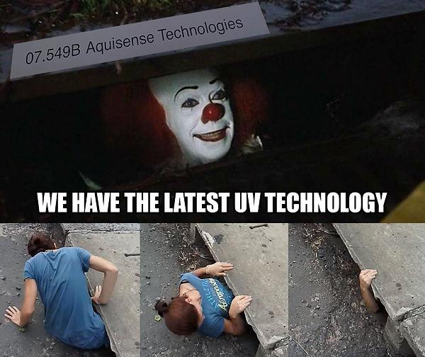 We hav the latest UV technology for disnfection - IT meme