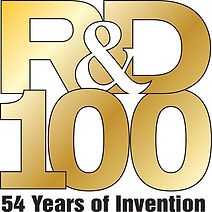 R&D 100 Awards logo - Research and Design Magazine awards for most innovative research devices.