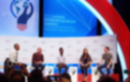 President Obama during the GES - on stage with three start-up CEOs and CEO of Facebook