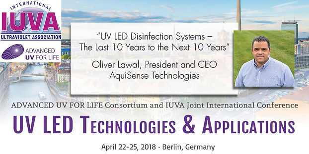 UV LED Disinfectio Systems presentation at IUVA