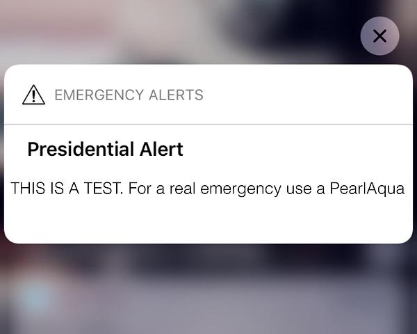 UV LED presidential alert