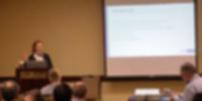 Jennifer Pagan speaks at the international ultrtaviolet association conference
