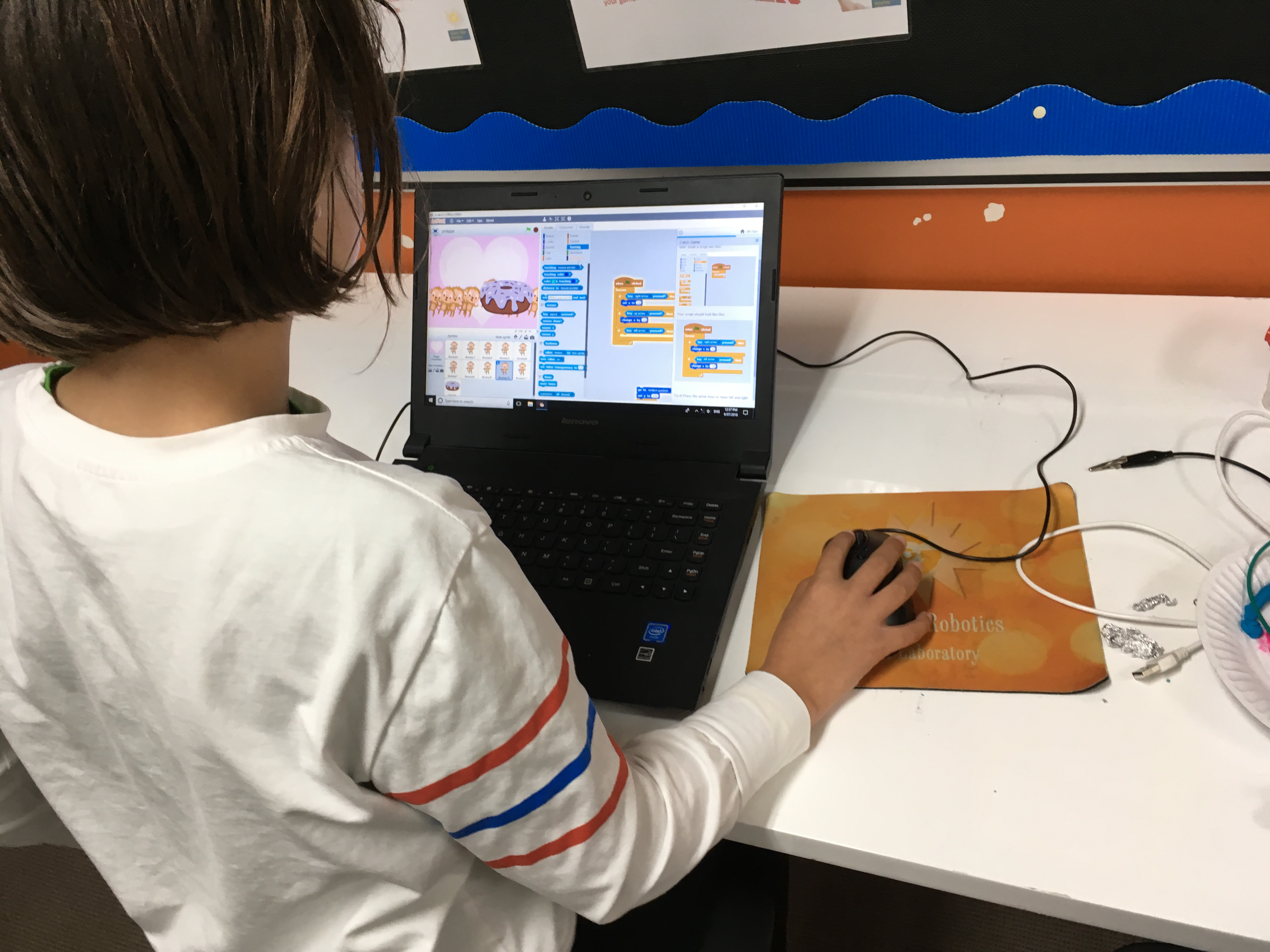 Learning to code with Scratch