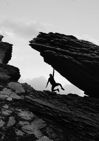 Rockclimbing.