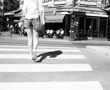 Shadow crossing.