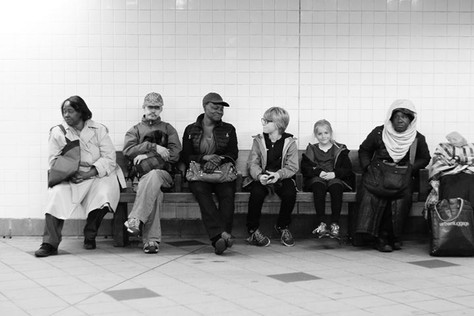 Subway conversation.