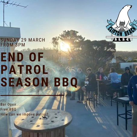 End of patrol season BBQ