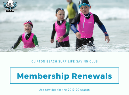 2019-20 Memberships are now due