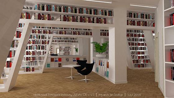 knihovna, interiér, design