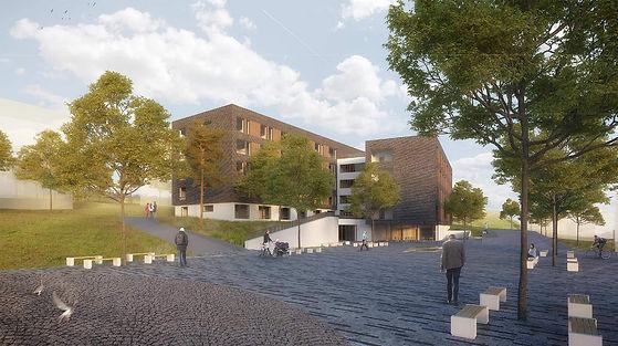 komunitní bydlení, dům s pečovatelskou službou, architektonická studie