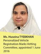 Ms. Huseina Tyebkhan