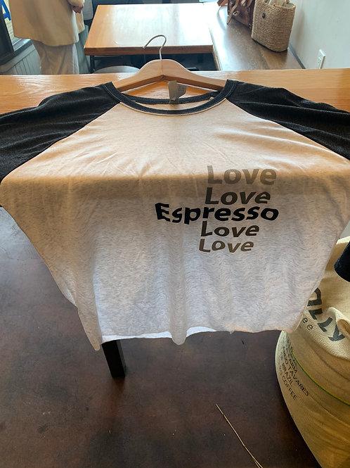 Espresso Love Hawthorn Coffee baseball shirt