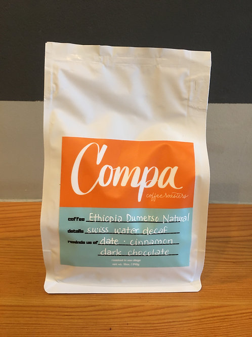 Swiss Water Decaf - Ethiopia Dumerso Natural