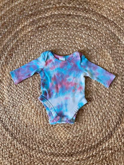 Bubble Gum - Tie Dye - Long Sleeve Bodysuit