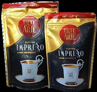 эсте арте кофе растворимый натуральный este arte impresso импрессо в дой-паке в пакете с замком