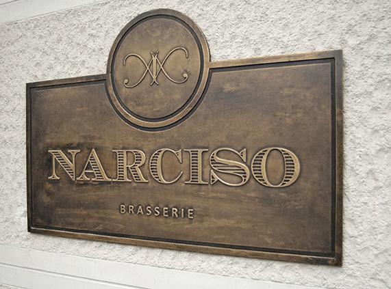 Placa Exterior Narciso
