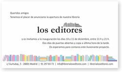 Invitación Los Editores