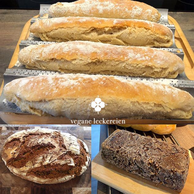 Baguettes, Sauerteigbrot, glutenfreies Brot aus dem Brotaufstrichkurs