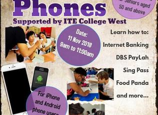 Helping Seniors to use smart phones