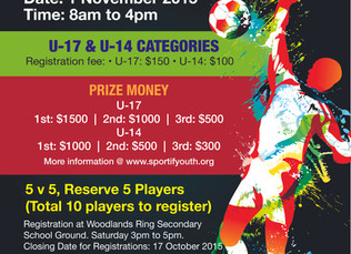 Sportif Youth 5-A-Side Soccer Tournament and Carnival