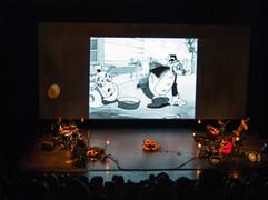Flip la Grenouille, le ciné-concert, un passage remarqué au Domaine d'Ô (Théâtre J-C Carrière)