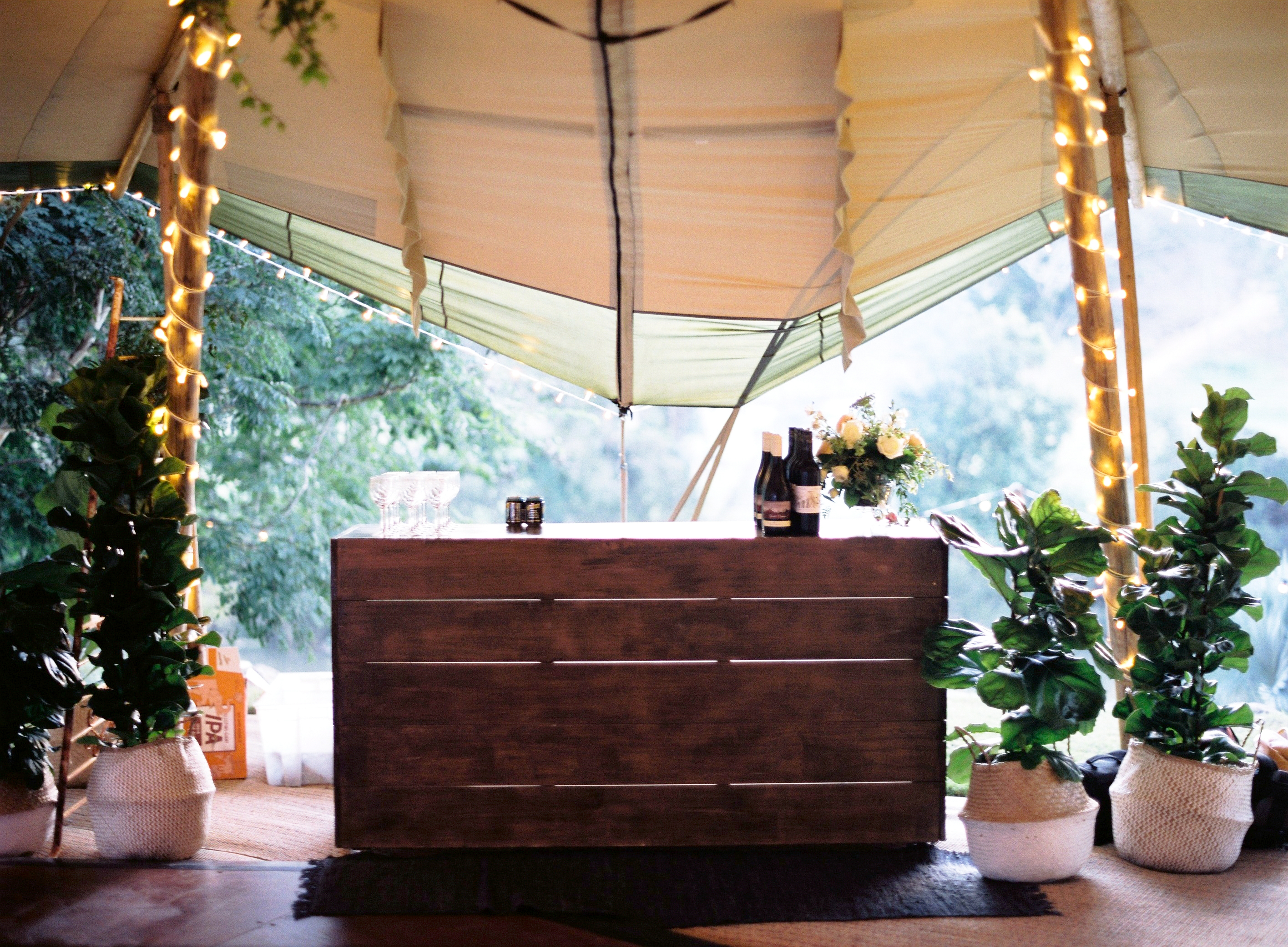 Double Tipi Bar Styling