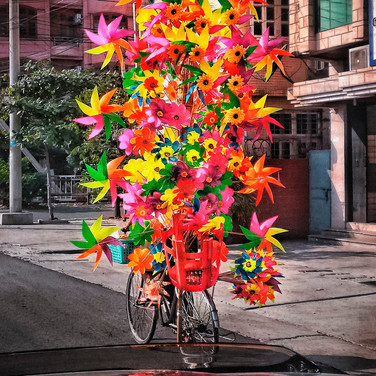 Streets of Mandalay, Windmills on bicycle
