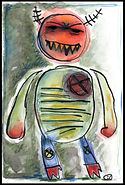 mixed media, collage, painting, drawing, acrylic painting, watercolor painting, drawing, painting, Michigan artist, primitive art, evil, abuse, emotional abuse, childhood abuse, bad dad, bully, anger, temper, hair trigger temper, rage, out of control, violence, mad, madness, furious, fine art, fine art collage, fran mason, fran mason illustration
