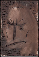 mixed media, collage, painting, drawing, acrylic painting, watercolor painting, drawing, painting, Michigan artist, primitive art, examined life, evil, abuse, emotional abuse, childhood abuse, bad dad, bully, anger, temper, hair trigger temper, rage, out of control, violence, mad, madness, furious, fine art, fine art collage, fran mason, fran mason illustration