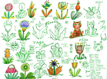 Page of flower sketches.jpg