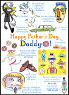 Father, Dad, Father's Day, Dad's day, Father's Day card, Father's Day greeting card, celebrate Dad, best Dad, Daddy, card for Dad, greeting card for Dad, watercolor, watercolor painting, ink drawing, pen and ink drawings, art work, art pictures, abstract, collage, collage art, paper art, visual arts, artist, unique cards, handmade card, handmade greeting card, unique birthday card, Fran Mason, Fran Mason Illustration, Fran Mason art