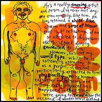 acrylic painting, acrylic, painting, abstract, abstract painting, painting on board, painting on Masonite, portrait, man, male, portrait of a man, Franz Spohn, Franz, artist Franz Spohn, illustrator Franz Spohn, artist, gumball Franz Spohn, expressive painting, Expressionism, modern Expressionism, primitive, primitive art, red, yellow, orange, colorful, coloful painting, Michigan artist, fine art, fine art painting, fine art collage, fran mason, fran mason illustration