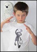 kids t-shirt, children's t-shirt, youth t-shirt, boys t-shirt, girls t-shirt, ninja t-shirt, ninja clothes, ninja,  screen print t-shirt, screen print t-shirt for kids, Halloween, Halloween t-shirt, Halloween ninja, Halloween ninja t-shirt, ninja screen print t-shirt for kids, hand drawn illustration, t-shirt for kids, handmade t-shirt, quirky t-shirt, kids clothes, artist t-shirt, original t-shirt, pen and ink illustration, watercolor illustration, Fran Mason Illustration, Fran Mason, Fran Mason art
