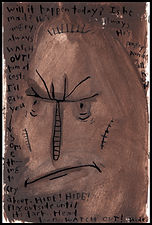 Watercolor, watercolor painting, watercolor on paper, watercolor pencil, abstract, abstract painting, painting, painting on paper, family, abuse, family abuse, father abuse, monster, demon, anger, childhood abuse, fear, terrified, hide, highly sensitive, highly sensitive child, expressive painting, Expressionism, modern Expressionism, Michigan artist, primitive, primitive artist, primitive art, fine art, fine art collage, fran mason, fran mason illustration, fran mason art