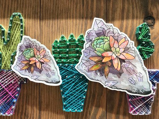 Succulent Crystal Sticker