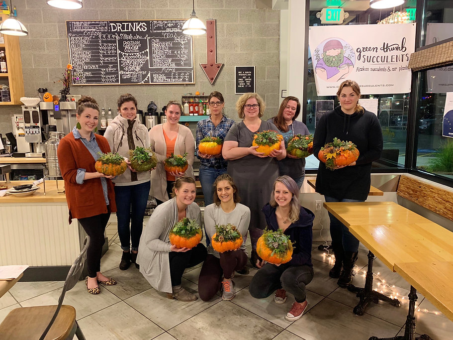 Succulent Pumpkin Fall Workshop 2018