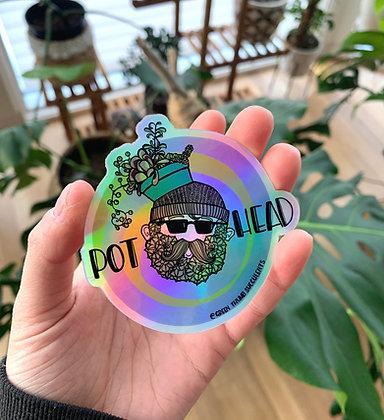 Pothead Sticker - Halographic