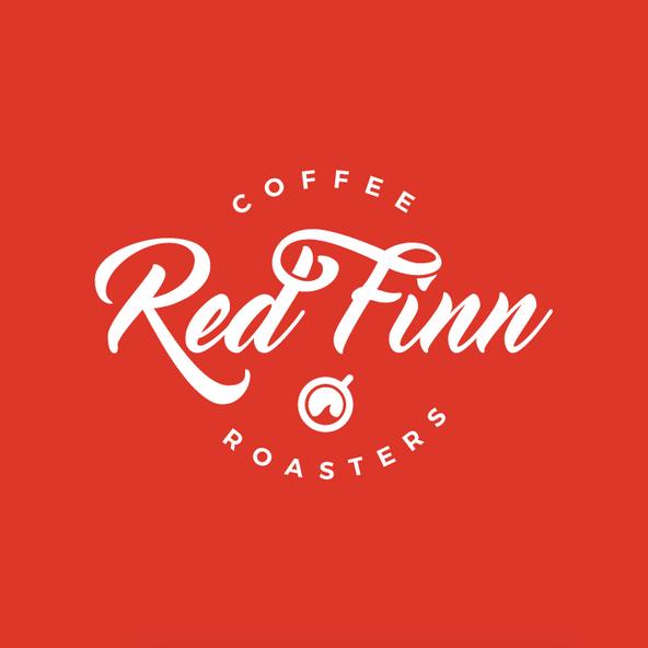 Logo design for Red Finn Coffee