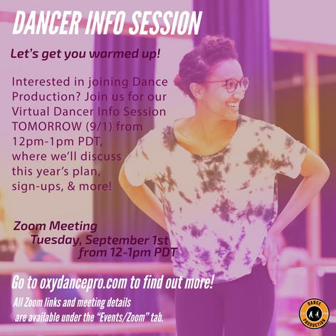 Dancer Info Sessions