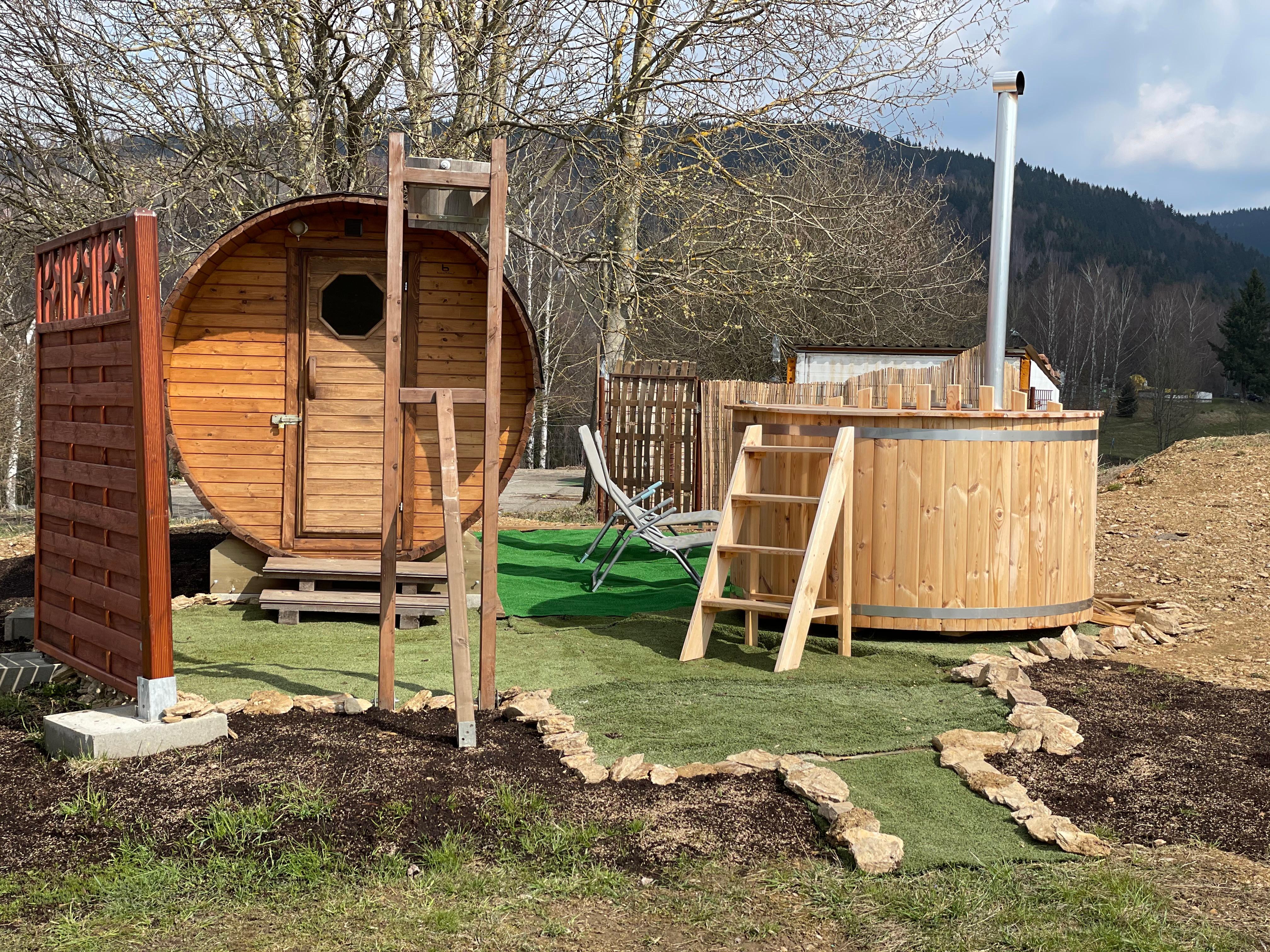 Sauna, koupací káď