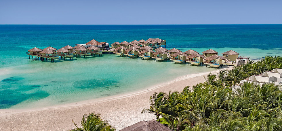 All inclusive overwater bungalows Mexico/all inclusive overwater bungalow resort Mexico