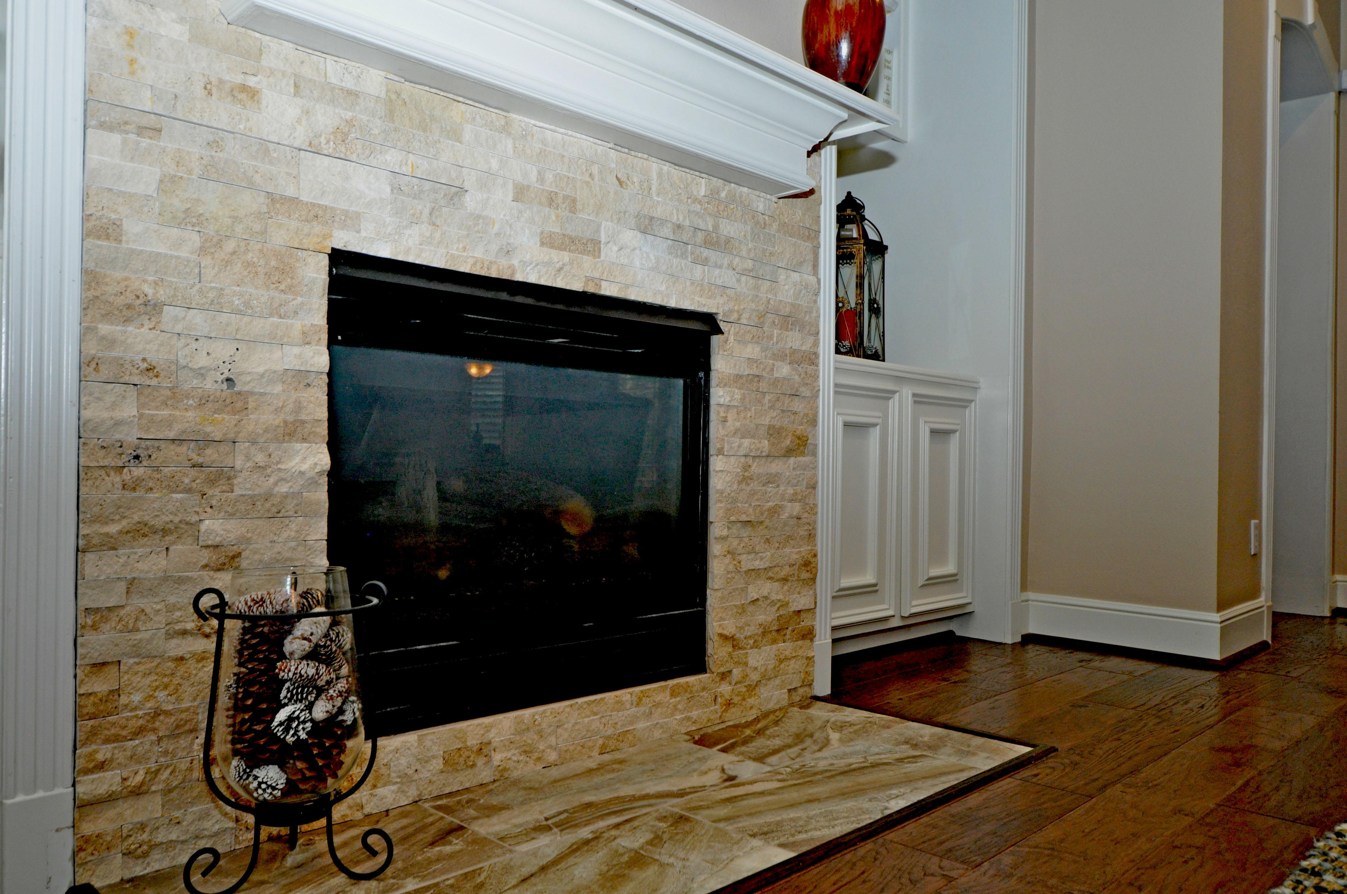 Stack Stone fireplacde