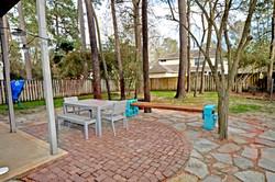 Patio in Backyard