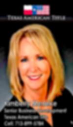 Kimberly Menke, Senior Business Development with Texas American Title Company
